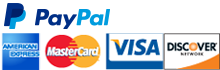 PayPal verified credit cards accepted.