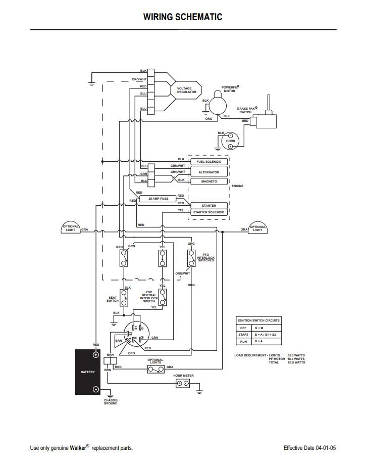 wiring diagram for walker 2005 ms mower