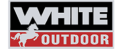 White Outdoor Logo Indicating you can buy Parts Here