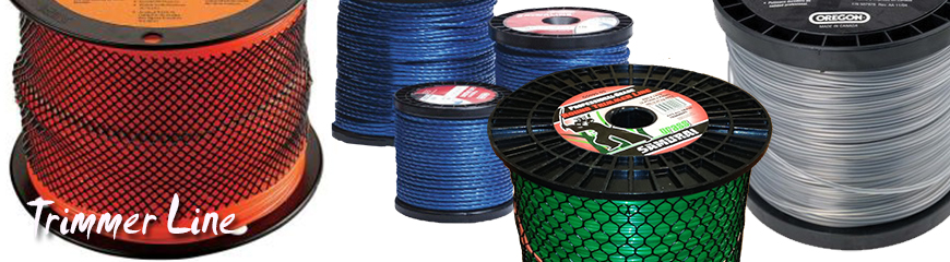 stack of green trimmer line