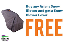 Free Ariens covers with any Snow blower Purchase