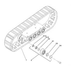 Standard tread track kit For TX222 1046106