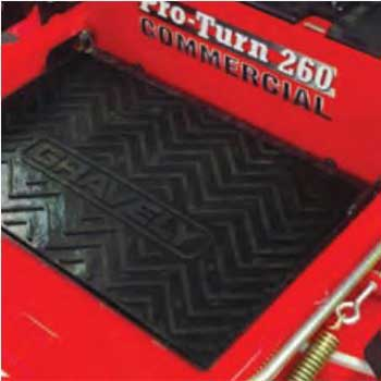 Gravely 79213100 Rubber Floor Mat Kit