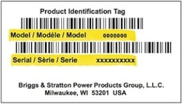Simplcity Model Number Tag
