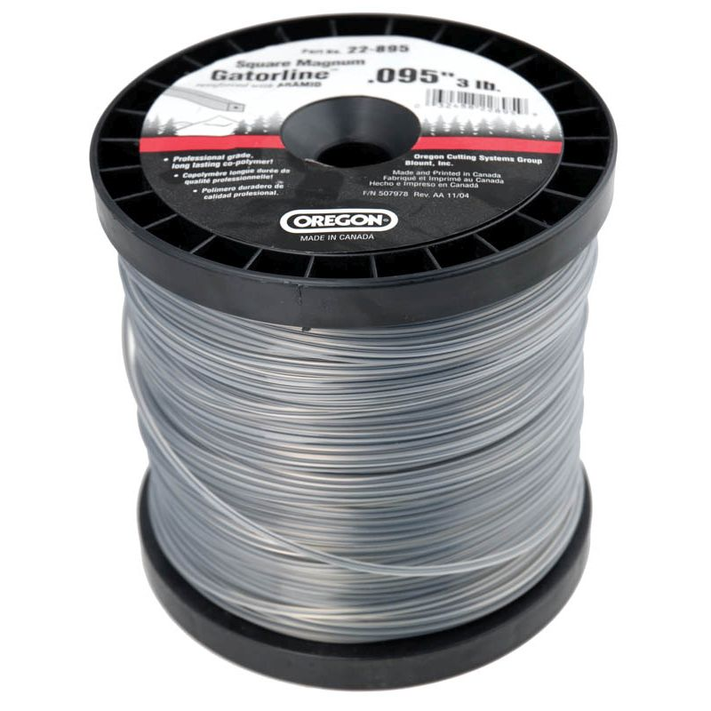 "Gatorline Trimmer Line-""Square"" 3 lbs Spool .095 22-895"