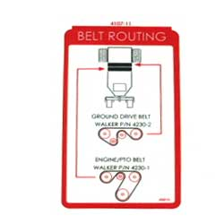 Walker 4107-11 (Nr) Decal, Belt Routing