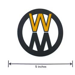 Walker 5800-13 (Nr) Decal, Walker Round 3-3/4
