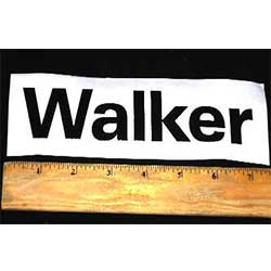 Walker DECAL, WALKER 6 3/4