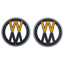 Walker 5801-3 Decal Plate/Round (Set)
