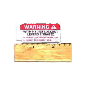 Walker 5810-3 (Nr) Decal, Hydro Warning