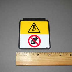Walker 8600-2 (Nr) Decal, Danger (Symbolic)