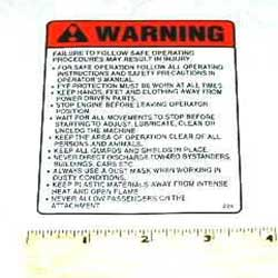 Walker I397 Decal, Safety Procedures