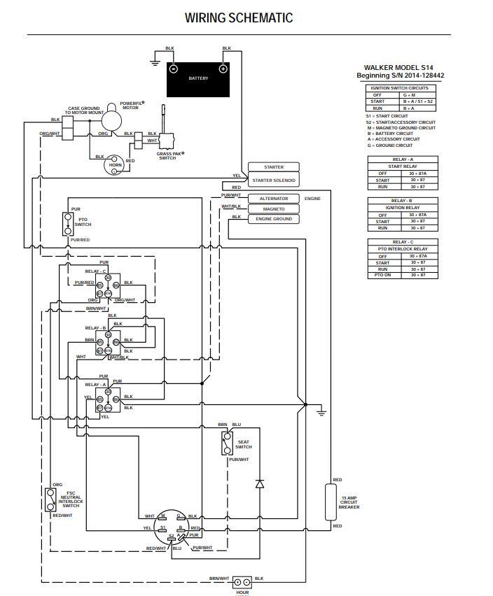 Walker Mower Mt Wiring Diagram | Wiring Diagrams on