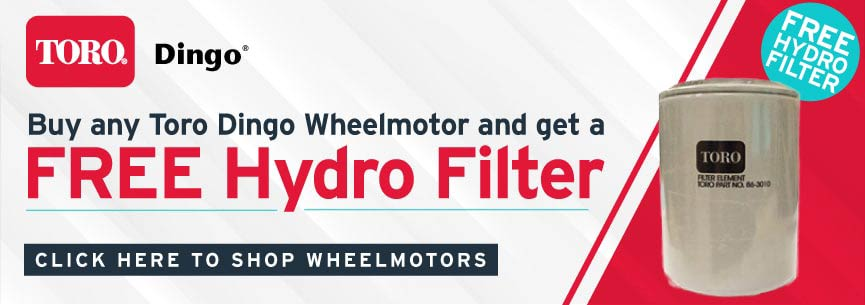 Free Toro Dingo Hydro Filter When you purchase a wheel motor