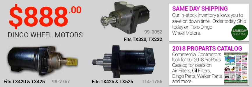 Toro Dingo Wheel Motors at 888 for TX-425, TX525