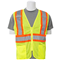 ERB Mesh Two-Tone Safety Vest with Zipper 61814